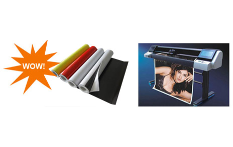 Meter Wide Magnetic Sheeting with Vinyl 'Choose me, Perfect your image'